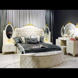 Луксозен спален комплект ZARIN - шампанско